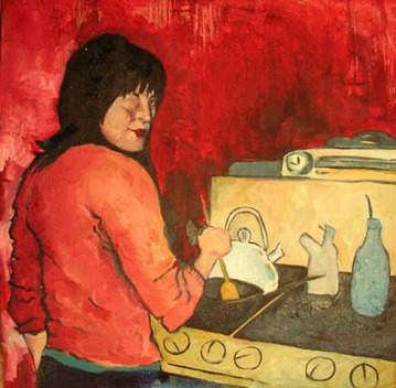 8. somethings missing, Oil on Wood - 3'x3', 2004
